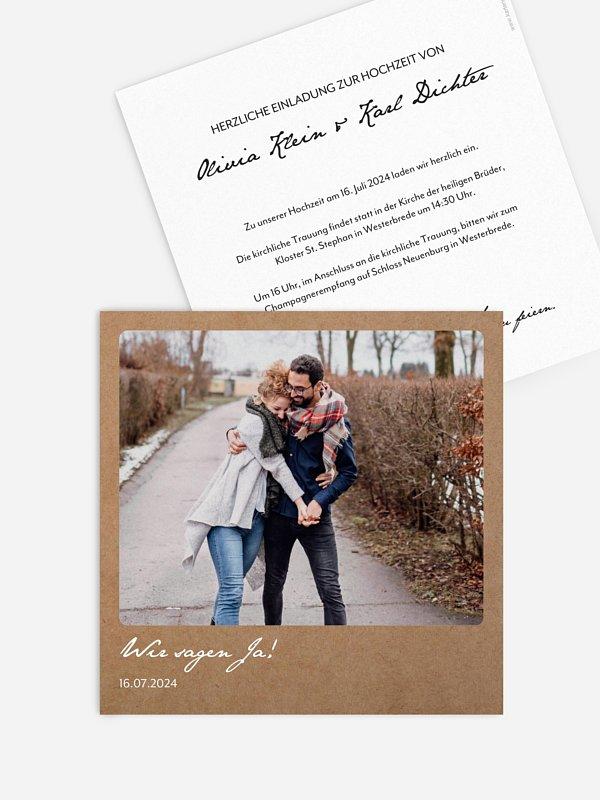 Hochzeitseinladung Ja-Wort