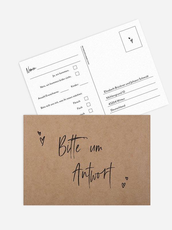 Antwortkarte Hochzeit Lasting Love