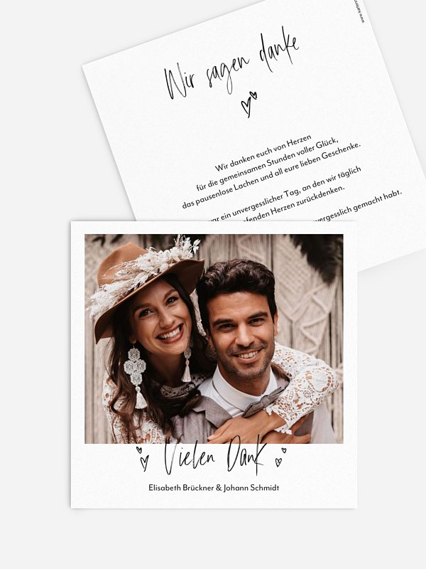 Dankeskarte Hochzeit Lasting Love