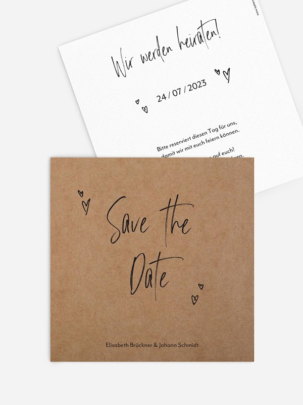 Save-the-Date Karte Lasting Love