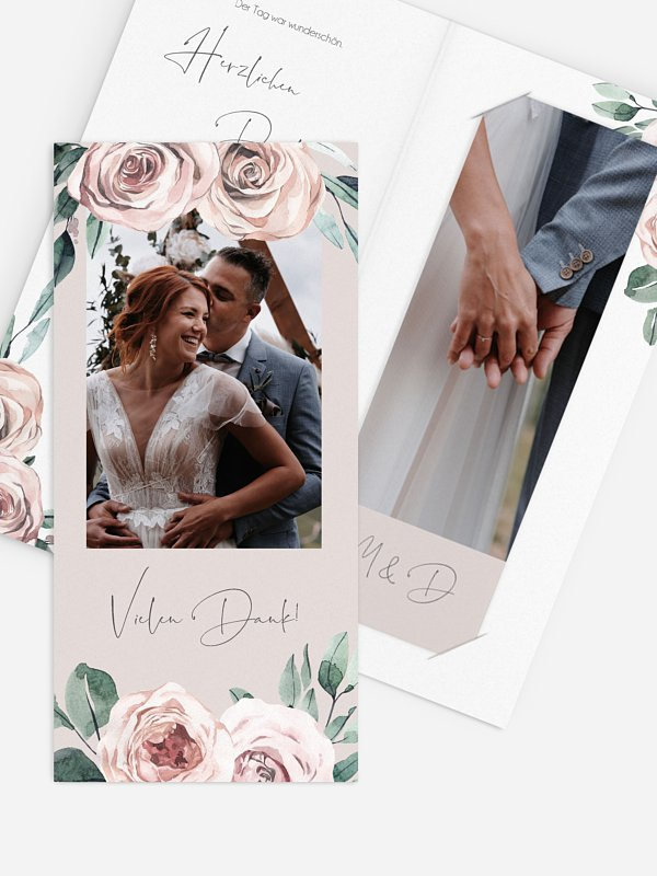 Dankeskarte Hochzeit Rose Diaries