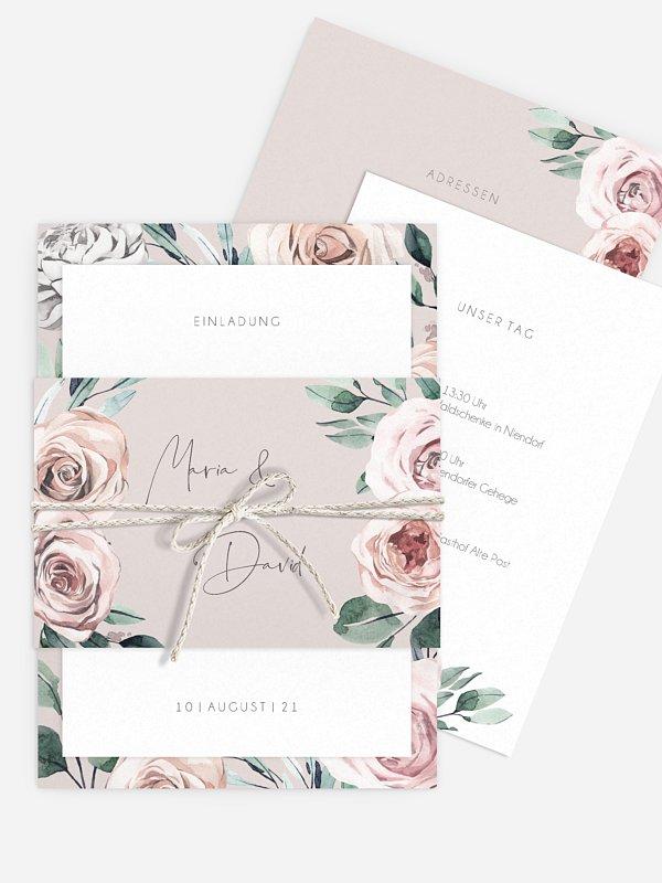 Hochzeitseinladung Rose Diaries