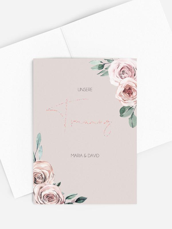 Kirchenheft Hochzeit Rose Diaries