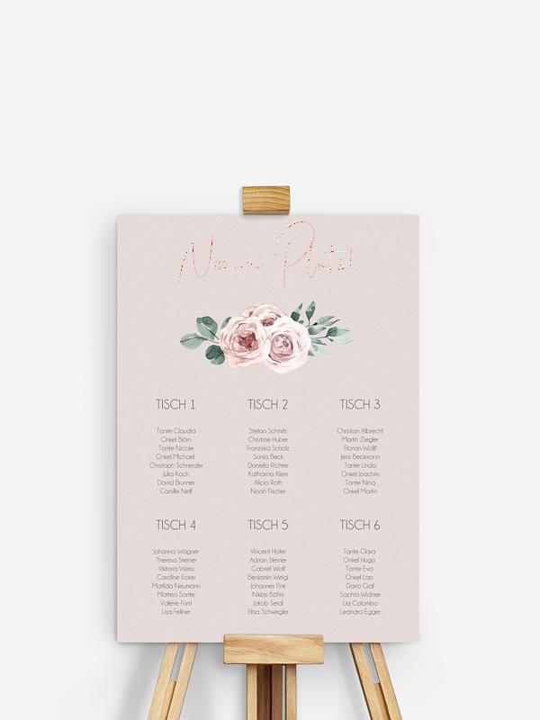 Sitzplan Plakat Rose Diaries