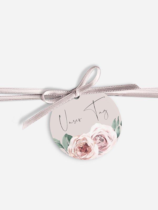 Anhänger mit Band zur Hochzeit Rose Diaries