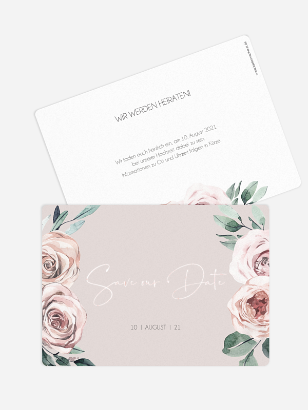 Save-the-Date Karte Rose Diaries