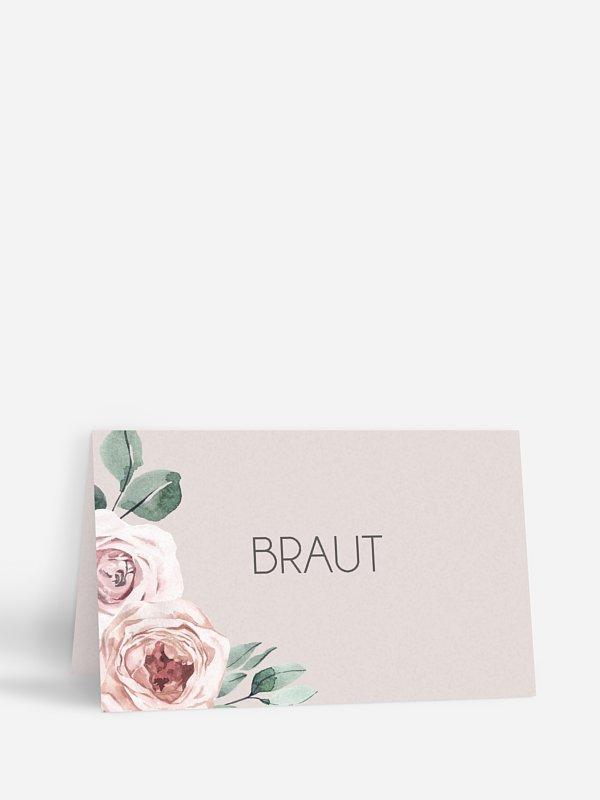 Tischkarte Hochzeit Rose Diaries