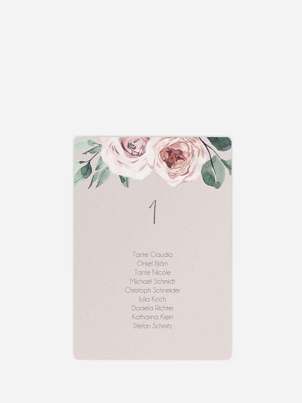 Sitzplan Kreativ Rose Diaries