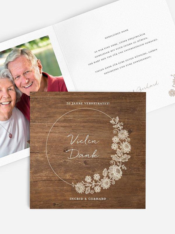 Danksagung zur Goldenen Hochzeit Lace Loop