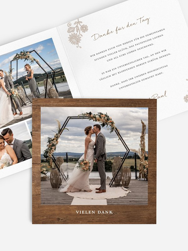 Dankeskarte Hochzeit Lace Loop