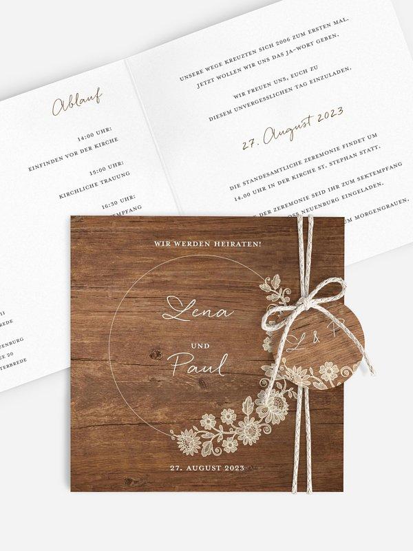 Hochzeitseinladung Lace Loop