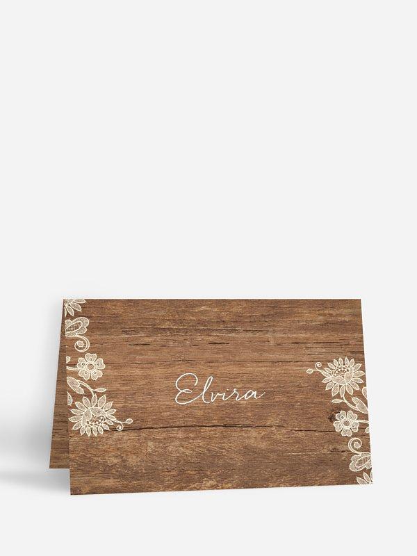 Tischkarte Hochzeit Lace Loop