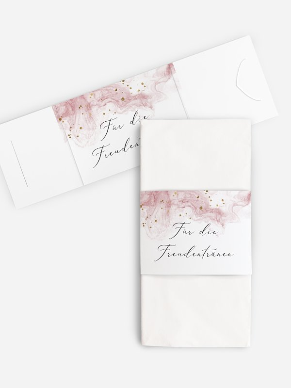 Freudentränen-Taschentücher Rose Marble