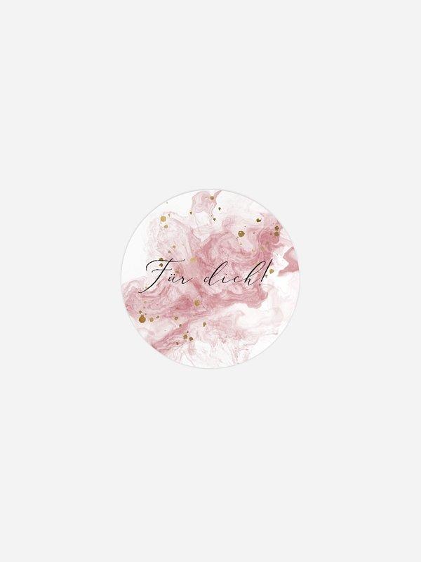 Geschenkaufkleber Hochzeit Rose Marble