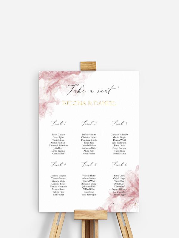 Sitzplan Plakat Rose Marble