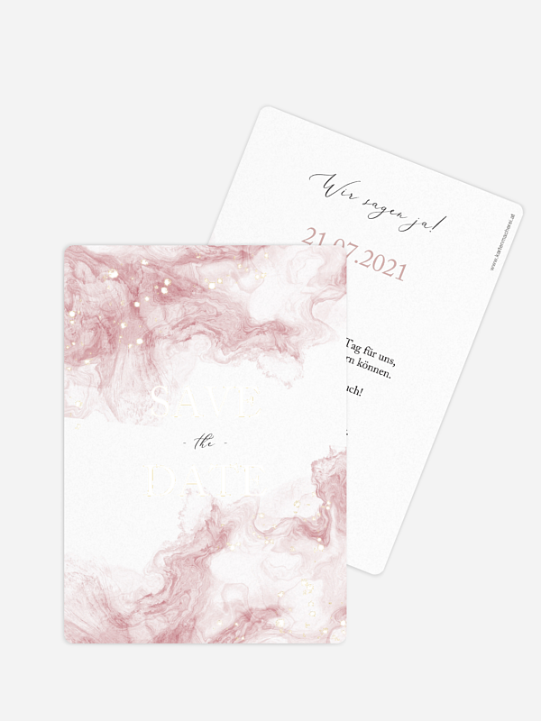 Save-the-Date Karte Rose Marble