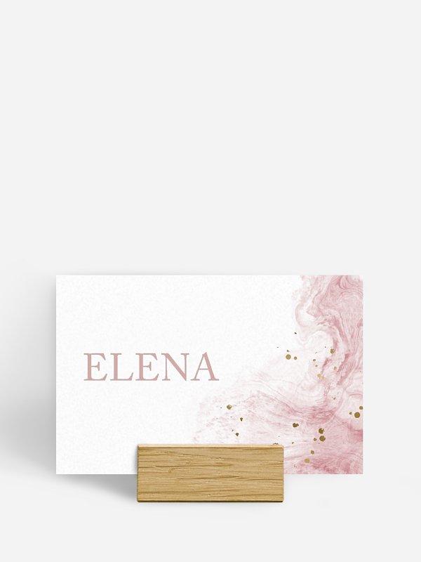 Tischkarte Hochzeit Rose Marble