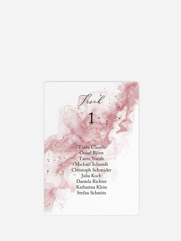 Sitzplan Kreativ Rose Marble