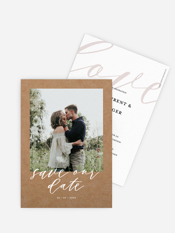 Save-the-Date Karte Lovely Shine