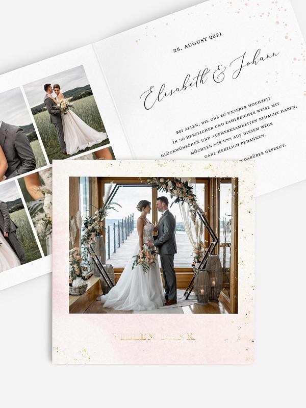 Dankeskarte Hochzeit Love Sparkles