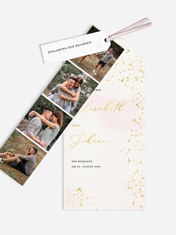 Hochzeitseinladung Love Sparkles