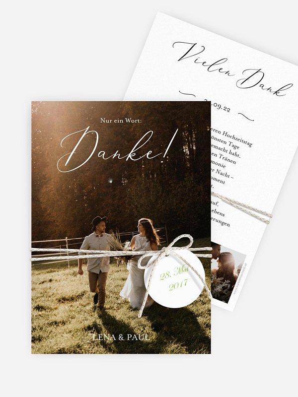 Dankeskarte Hochzeit Forever Us