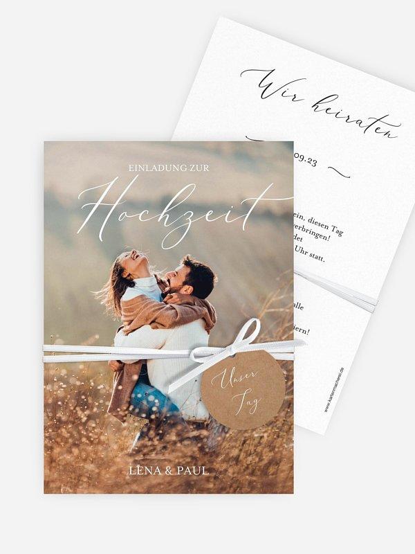 Hochzeitseinladung Forever Us