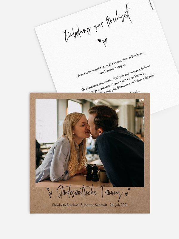Hochzeitseinladung Standesamt Lasting Love