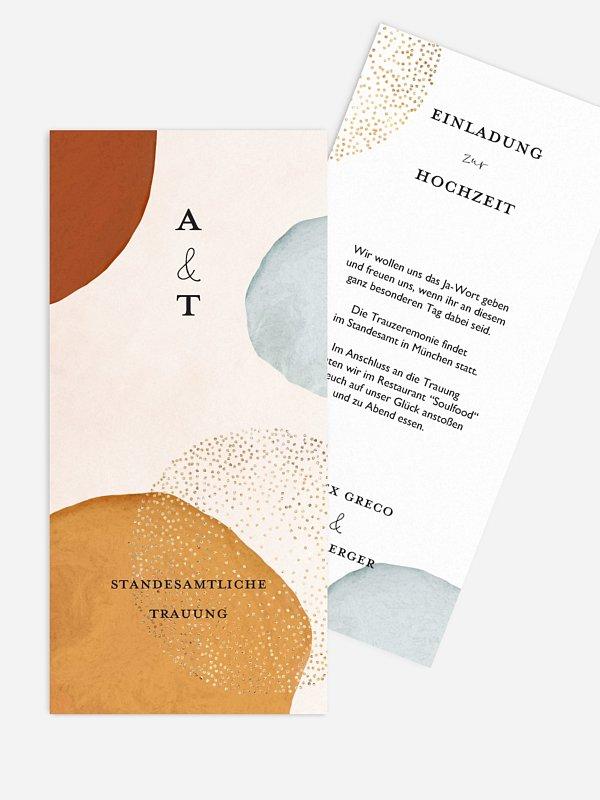 Hochzeitseinladung Standesamt Abstract Shapes