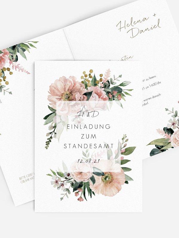Hochzeitseinladung Standesamt Secret Garden