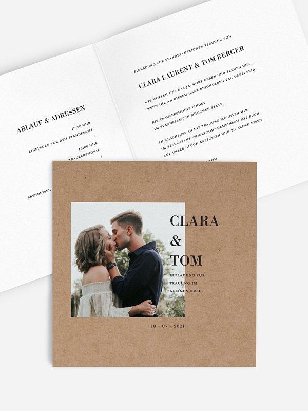 Hochzeitseinladung Standesamt Love More