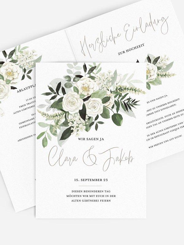 Hochzeitseinladung White Bouquet