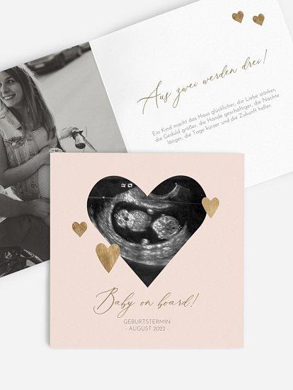 """Schwangerschaftskarten """"Deep Love"""""""
